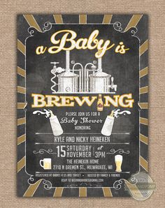 Hey, I found this really awesome Etsy listing at https://www.etsy.com/listing/215014745/beer-brewing-bbq-baby-shower-invitation