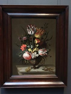 Still Life with a vase of Flowers and a dead Frog by Jacob Marrel, the Rijksmuseum, Amsterdam Flower Vases, Still Life, Museum, Antiques, Painting, Frames, Flowers, Antiquities, Antique