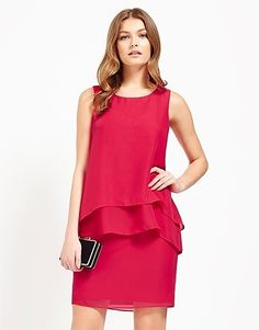 Womens raspberry naf naf layered shift dress from Lipsy - £46 at ClothingByColour.com Lipsy, Peplum Dress, Raspberry, Layers, Clothes, Color, Dresses, Women, Fashion