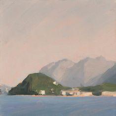"Diana Horowitz - Bellagio, Afternoon 2015 oil on panel 6"" x 6"""