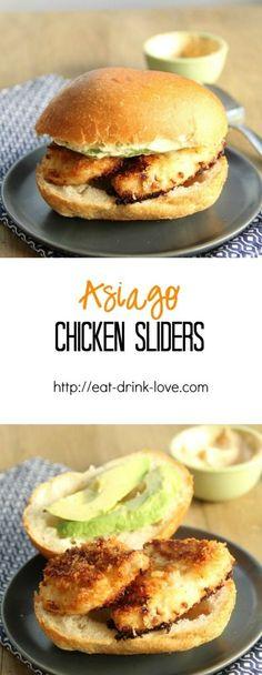 Baked Asiago Chicken Sliders