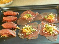 Roulé viande à fondue