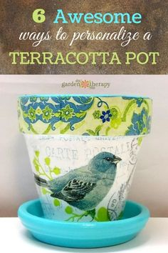 32 Terracotta Pot Hacks to Liven Up Your Home and Garden - Garden Therapy These are GORGeous! 6 totally unique and interesting ways to decorate a flower pot Flower Pot Crafts, Clay Pot Crafts, Diy And Crafts, Painted Clay Pots, Painted Flower Pots, Painted Pebbles, Terra Cotta, Mod Podge Crafts, Flower Pot Design