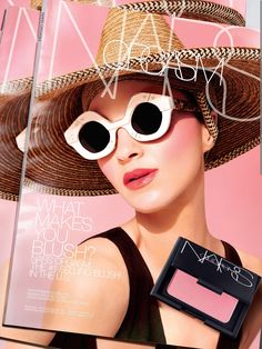 fef190d7c6720 Eric Javits Pagoda Hat featured in the NARS Orgasm Blush Campaign 2016