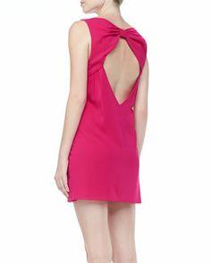 Trina Bow-Back Dress by Alice + Olivia at Neiman Marcus. #ValentinesDay