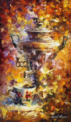 RUSSIAN TEA - Palette Knife  Oil Painting On Canvas By Leonid Afremov http://afremov.com/RUSSIAN-TEA-palette-knife-Oil-Painting-On-Canvas-By-Leonid-Afremov-20x30.html?utm_source=s-pinterest&utm_medium=/afremov_usa&utm_campaign=ADD-YOUR