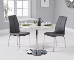 High Gloss Kitchen Table Sets Fresh Delaney Round High Gloss Carrera Grey Dining Table with. Space Saving Dining Table, Grey Dining Tables, Table And Chairs, Dining Chairs, Kitchen Interior, Kitchen Decor, Kitchen Tables For Sale, Oak Furniture Superstore, High Gloss Kitchen