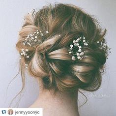 Beautiful bridal hair inspiration #Repost @jennyyoonyc  #ulyanaaster | Hair and…
