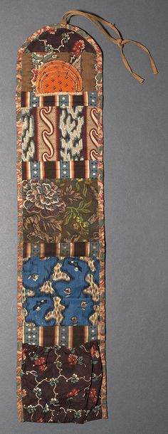 1969.3107 Needlework Case   Place of Origin: United States, North America  Date: 1795-1820  Materials: Cotton; Wool; Silk
