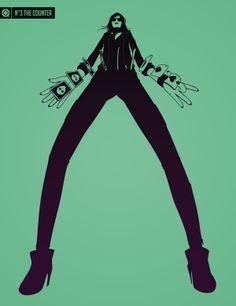the Numbers: Super Deformed characters by Bruno Jesus, via Behance