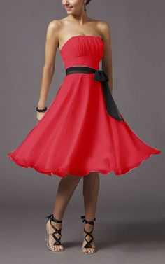 Mori Lee 735 Red Bridesmaid Dress Strapless Column Pleated Chiffon So i would just like it for an everyday wear lol