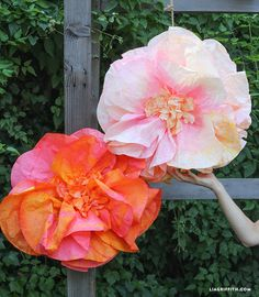 Giant Coffee Filter Flowers