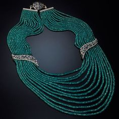 Necklace set with Paraiba tourmalines up to 200 carats with sapphires and brilliant -cut diamonds