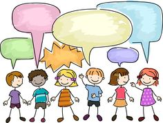 An image for children about each child talking about only his or her idea....something I want to show the children I work with.