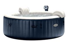 Intex Pure Spa Inflatable 6 Person Outdoor Bubble Hot Tub + Non Slip Seat Insert