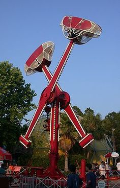 Carnival ride of the 1960s -  Loop-o-plane / Salt and Pepper Shakers / Bullet ride...In California we called this ride The Hammer