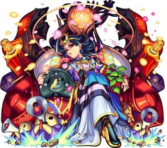 Game Character, Character Concept, Fantasy Characters, Anime Characters, Puzzles And Dragons, Monster Strike, Cross Patterns, Fantastic Art, Unique Art