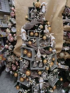 Furniture and Home Decor Made in USA - Paul Michael Company - Christmas Retail Decor Christmas Tree Village Display, Christmas Store Displays, Christmas Villages, Christmas Mood, Noel Christmas, Christmas Design, Christmas Wreaths, Christmas Crafts, Pink Christmas Decorations