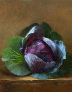 Autumn Cabbage PaintingAutumn Cabbage Artist - Robert Papp