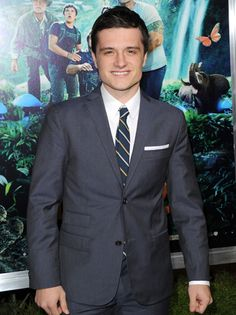 "Josh Hutcherson on the red carpet for the ""Journey 2: The Mysterious Island"" premiere"