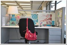 Bright, cheery office space