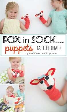 fox in sock….puppets for Books Alive - craftiness is not optional