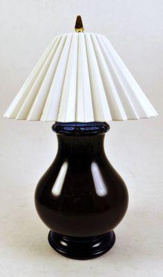 Vtg AVON Blue Ming Lamp CHARISMA Foaming Bath Oil 5 oz Cobalt Blue Bottle #Avon