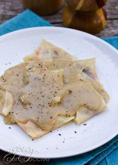 Leftover Turkey Ravioli with Gravy