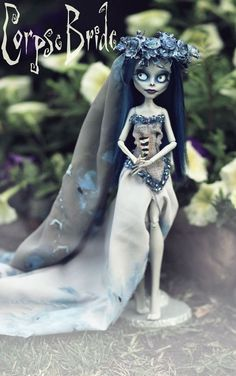 Tim Burton Corpse Bride doll OOAK Monster High repaint