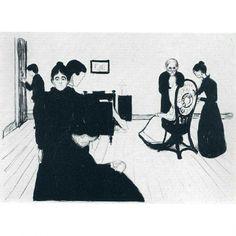 Эдвард Мунк - Комната умирающего (1896)