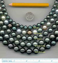 "Tahitian pearls are mostly found in shades of gray and are rarely black in color. However, these pearls are referred to as ""black pearls"" because of their relatively darker shades. Gems Jewelry, Pearl Jewelry, Loose Pearls, Tahitian Black Pearls, Thinking Day, South Sea Pearls, Pearl Color, Gems And Minerals, Cultured Pearls"