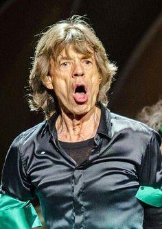Mick Jagger looking like Iggy Pop
