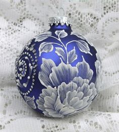 beautiful blue and white ornament...