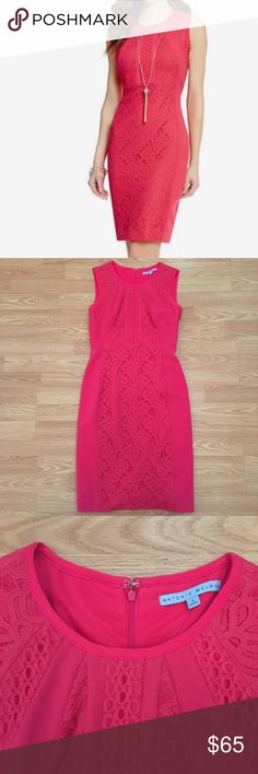 Antonio Melani dress. Beautiful Antonio Melani pink summer dress with lace details. Great condition! ANTONIO MELANI Dresses