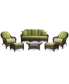 sandy cove outdoor wicker 3 pc seating set 1 sofa and 2 swivel