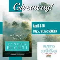 Author Interview (and a Giveaway!): Cynthia Ruchti - Reading Is My SuperPower