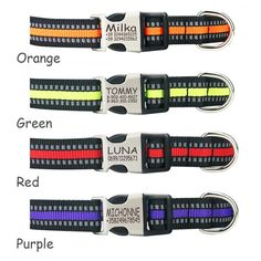 Dog Collar Reflective Nylon Personalised Engraved Dog Collar Custom Pet Collars ID Tag For For Small Medium Large Dog Custom Pet Collars, Personalized Dog Collars, Gender Examples, Reflective Dog Collars, Dog Collar Tags, Small Puppies, Pet Id Tags, Pet Names, Pet Memorials