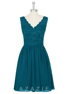 Avail in Jade and Ink Blue... I like both! Azazie Cierra Bridesmaid Dress | Azazie