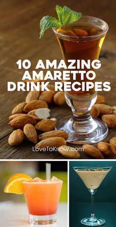 10 Amazing Amaretto Drink Recipes - Amaretto is an almond-flavored liqueur used in many different cocktails. With its sweet almond flavor, amaretto is a versatile drink ingredient. It adds sweetness and flavor to many delicious cocktails. Beste Cocktails, Sweet Cocktails, Cocktail Recipes, Cocktail Drinks, Popular Cocktails, Margarita Recipes, Amaretto Drinks, Amaretto Recipe, Amaretto Sour