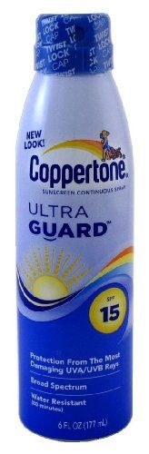 Coppertone Continuous Spf#15 Spray Ultra Guard 6oz (3-pack) with Free Nail File by Coppertone. $38.09