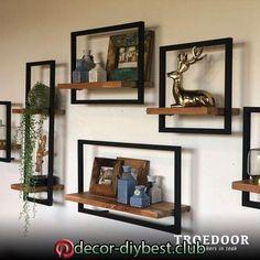 Living Room Decor Cozy, Diy Room Decor, Modern Floating Shelves, Pallet Wall Decor, Wall Decor Design, House Plants Decor, Retro Home Decor, Home Decor Furniture, Ideas