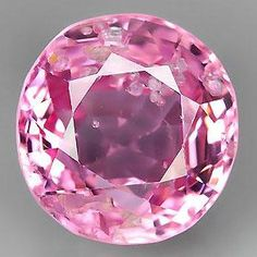 Bright Pink Natural Spinel Faceted Semi Round 7 x by SilverFound, $13.75