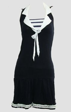 Dress Stripe Black Sailor Dress  95% cotton, 5% spandex..   Guaranteed retro style.     Price: €24.95  http://www.clarabella.nl/lady/dresses/sailor/dress-stripe-black-sailor-dress/   Don't you like promos? Don't miss out! Grab YOUR super nice 15% discount code: http://eepurl.com/boSy7H