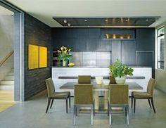 Contemporary Dining Room by Terry Hunziker Inc. and Cheshire Architects Ltd. in Auckland, New Zealand