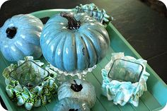 Pottery Barn knock off Dollar Store Crackled Pumpkin Tutorial!