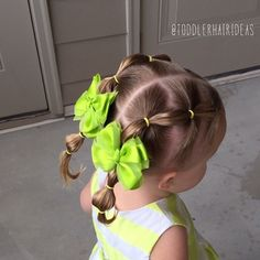 """Today we did bubble piggy tails inspired by @brownhairedbliss! To get the """"bubble"""" effect, just pull the ponies between elastics lightly on each side and the top! #toddlerhair #toddlerhairideas #cutetoddlerhair #cutegirlhair #toddlerhairstyles #toddlerhairstyleideas #hairideas #toddlerstyle #easyhairstyle #easyhairstyles #girlhair #littlegirlhair #littlegirlhairstyle #toddler #buns #braids #ponytail #pigtails #hairstylesforgirls #hairstyleforgirls #hair #easy #elastics #bubbleponytail…"""