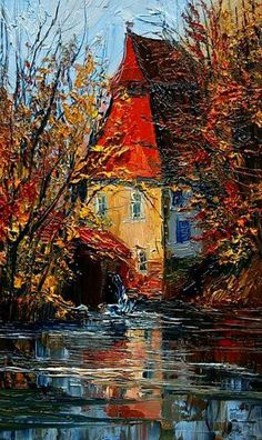 Justyna Kopania ~ Abstract Palette Knife painter - My CMS Abstract Landscape, Landscape Paintings, Classic Paintings, Palette Knife, Amazing Art, Modern Art, Street Art, Art Photography, Canvas Art