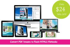 Convert Boring PDFs to Slick Digital Flipbooks with Realistic Page Turning Effects - only $21!