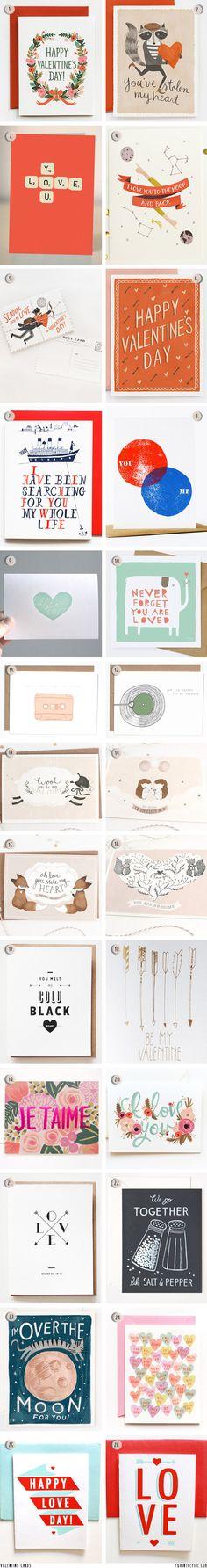 Valentine Cards   //   FOXINTHEPINE.COM