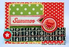 Designer @Grace Tolman made this cute card with #Pink Paislee's Hometown Summer collection and #GlueArts adhesives.